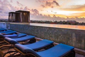 watermark hotel sunset rooftop pool