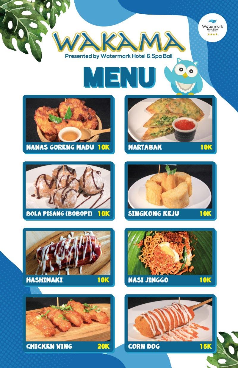 wakama menu